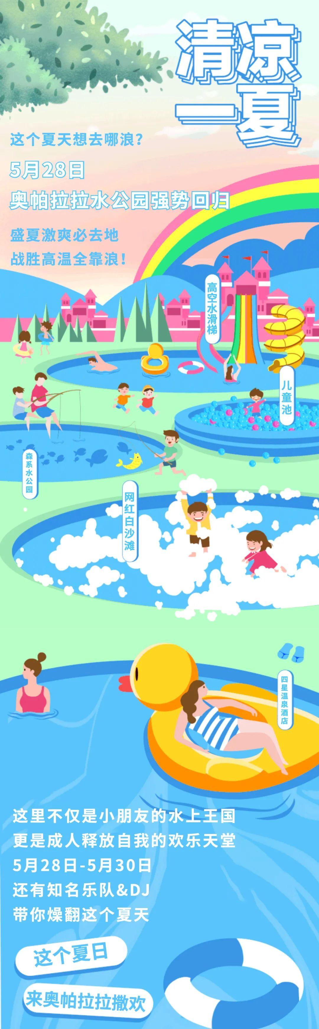 开启夏日出游计划! 奥帕拉拉水公园狂欢开园!承包你整个夏日的沁凉!